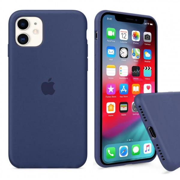 Чехол Silicone Case Full для iPhone 11 (Alaskan Blue)