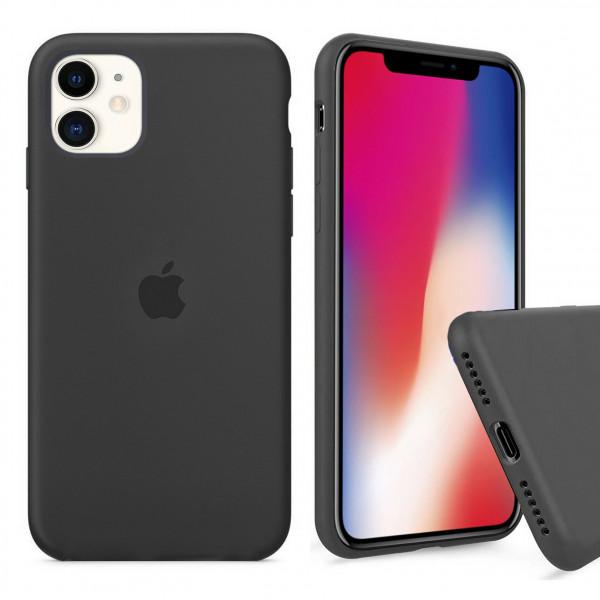 Чехол Silicone Case Full для iPhone 11 (Charcoal Gray)