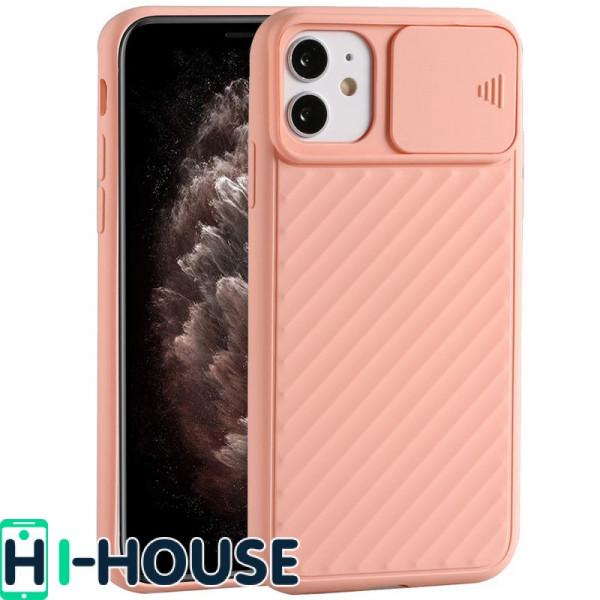 Чехол для iPhone 11 CamShield (со шторкой для защиты камеры) TPU (Pink Sand)