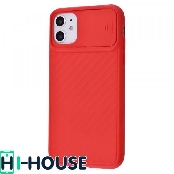 Чехол для iPhone 11 CamShield (со шторкой для защиты камеры) TPU (Red)
