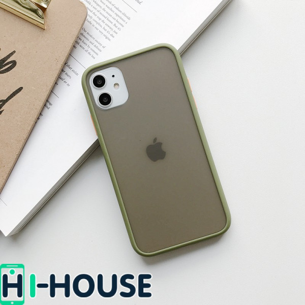 Чехол Gingle Series Case на iPhone 11 (Green Orange)