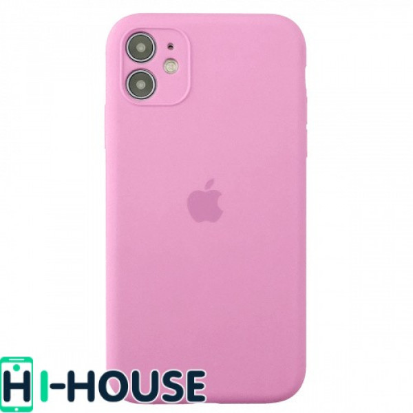 Чехол для iPhone 11 Silicone Case Full Camera Protection (Pink)