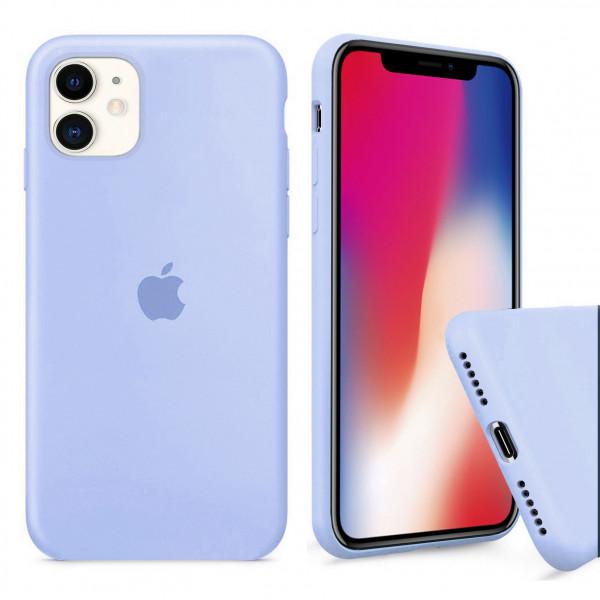 Чехол Silicone Case Full для iPhone 11 (Lilac Cream)