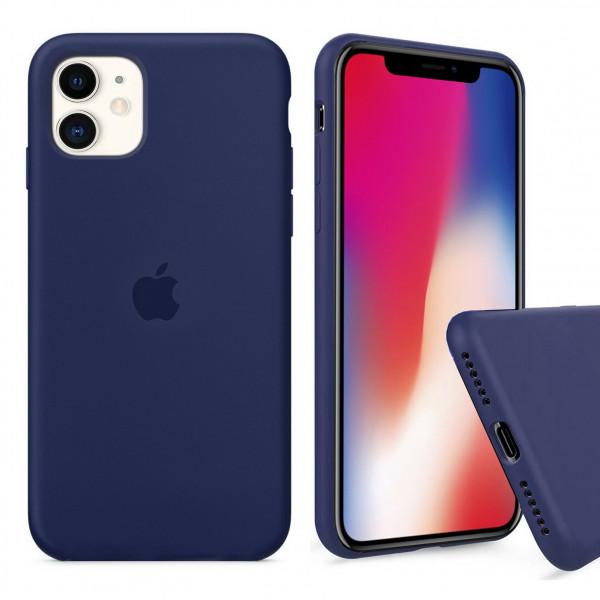 Чехол Silicone Case Full для iPhone 11 (Midnight Blue)