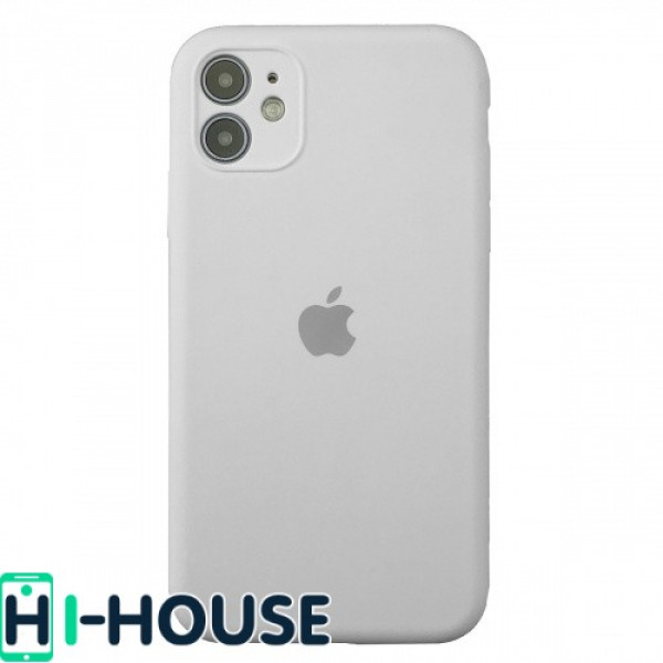 Чехол для iPhone 11 Silicone Case Full Camera Protection (White)
