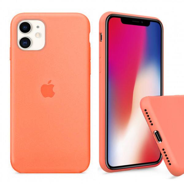 Чехол Silicone Case Full для iPhone 11 (Papaya)