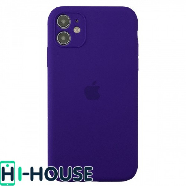 Чехол для iPhone 11 Silicone Case Full Camera Protection (Ultra Violet)