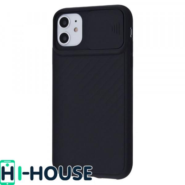 Чехол для iPhone 11 CamShield (со шторкой для защиты камеры) TPU (Black)