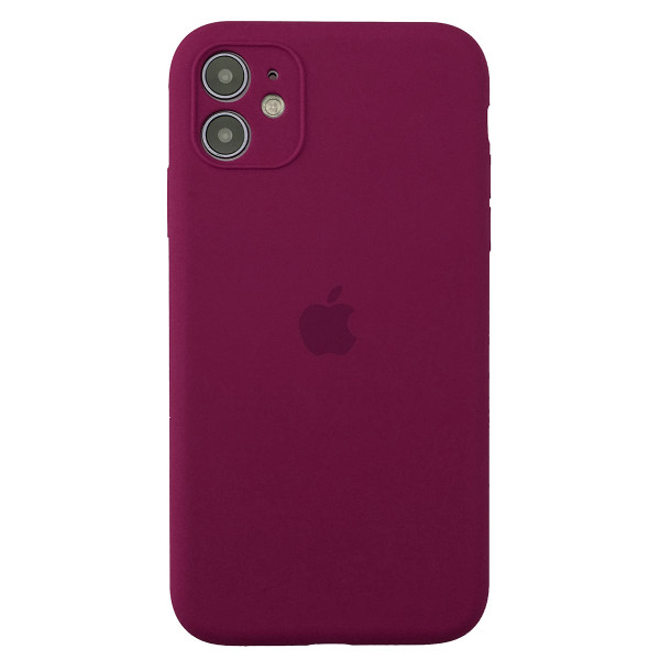 Чехол Silicone Case Full для iPhone 11 (Rose Red)