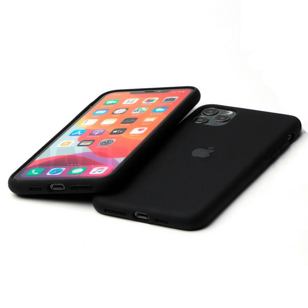 Чехол Silicone Case Full для iPhone 11 (Black)
