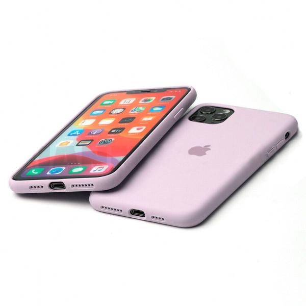 Чехол Silicone Case Full для iPhone 11 (Lavender)