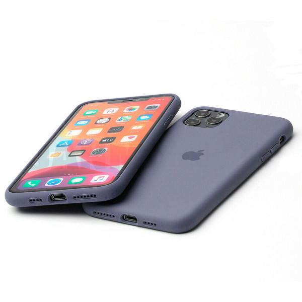 Чехол Silicone Case Full для iPhone 11 (Lavender Gray)