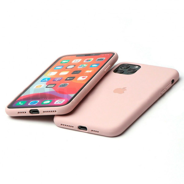 Чехол Silicone Case Full для iPhone 11 (Pink Sand)