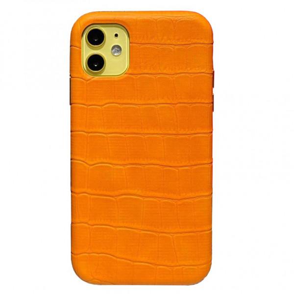 Чехол на iPhone 11 Leather Case Full (Yellow)