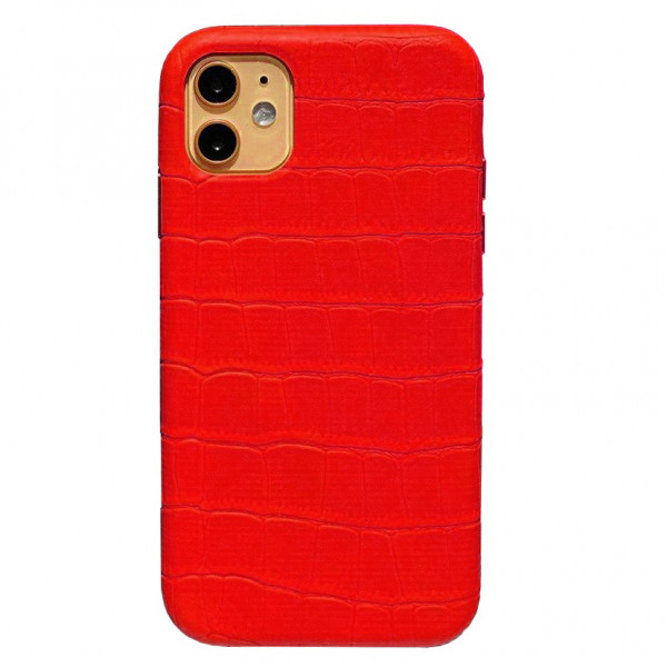 Чехол на iPhone 11 Leather Case Full (Red)