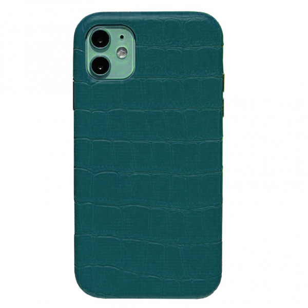 Чехол на iPhone 11 Leather Case Full (Green)