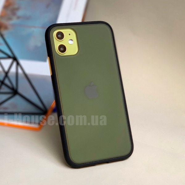 Чехол Gingle Series Case на iPhone 11 (Black Orange)