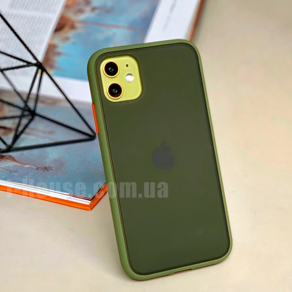 Чехол Gingle Series Case на iPhone 11 (Green Red)