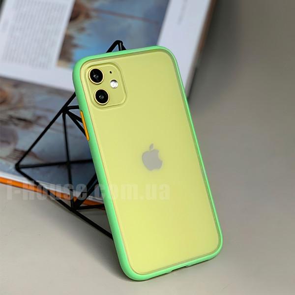Чехол Gingle Series Case на iPhone 11 (Mint Orange)