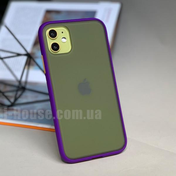 Чехол Gingle Series Case на iPhone 11 (Purple Orange)
