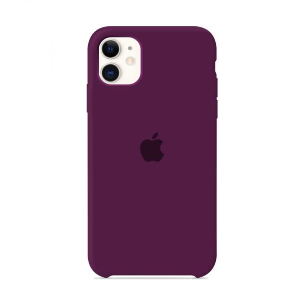 Чехол для iPhone 11 Silicone Case (Marsala) OEM