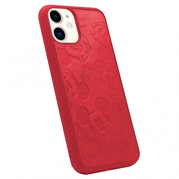 Чехол накладка MyTouch для iPhone 11 Mickey Mouse Faux Leather (Red)
