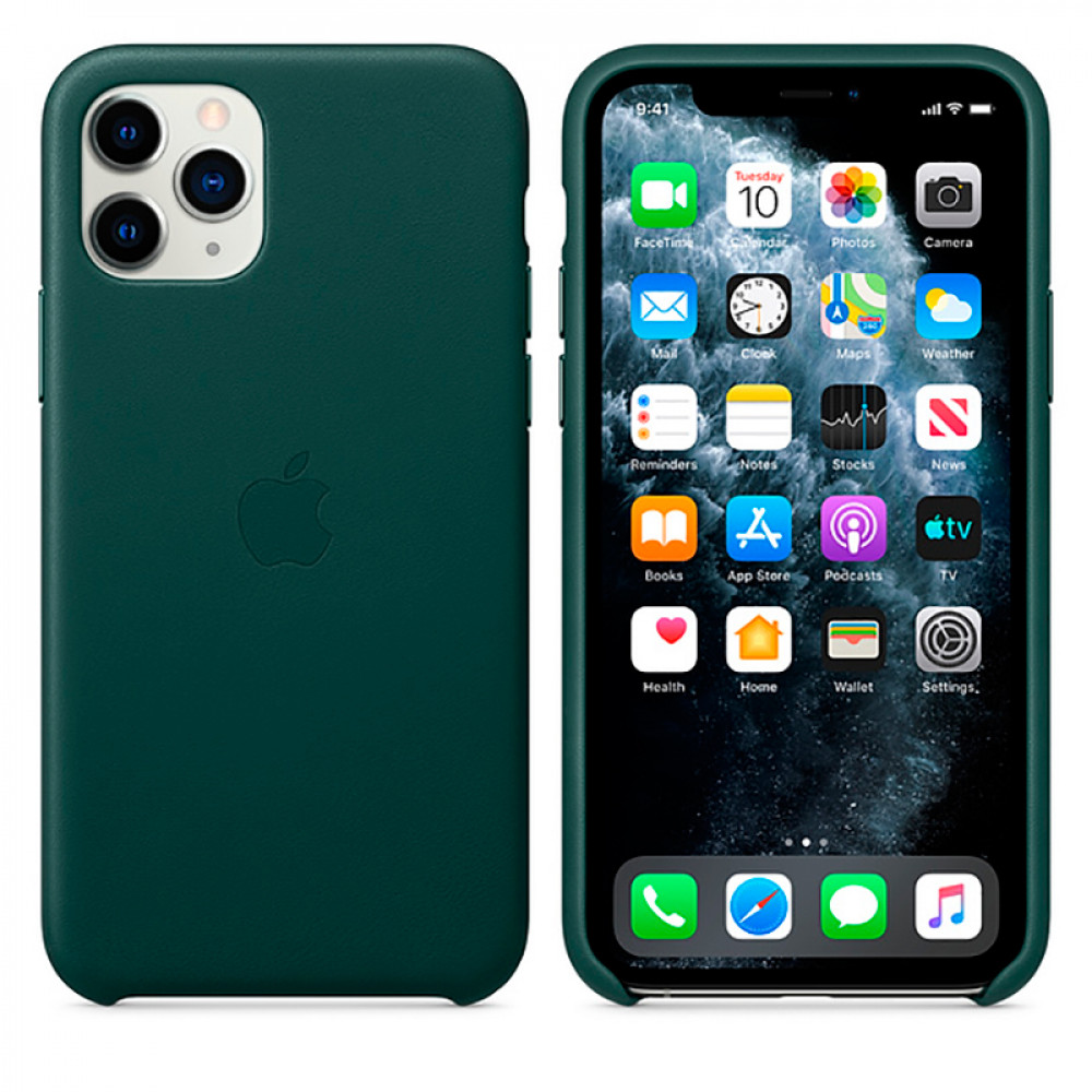 Чехол Good Leather Case для iPhone 11 Pro (Forest Green)