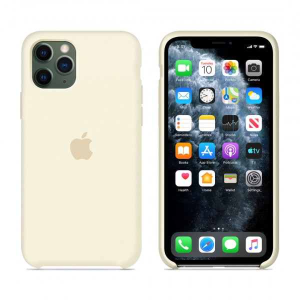 Чехол для iPhone 11 Pro Max Silicone Case (Antique White) OEM