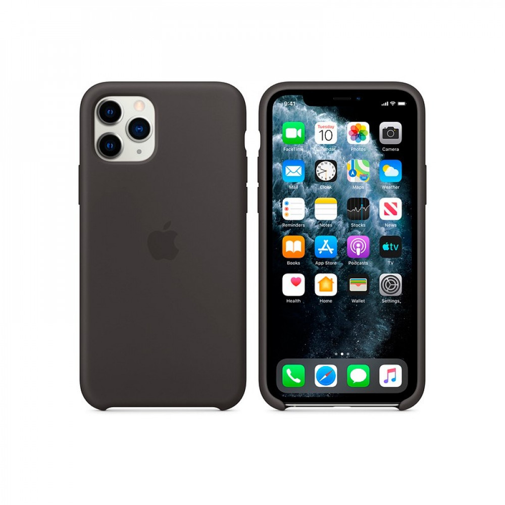 Чехол для iPhone 11 Pro Silicone Case (Black) OEM
