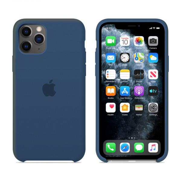 Чехол для iPhone 11 Pro Max Silicone Case (Blue Cobalt) OEM