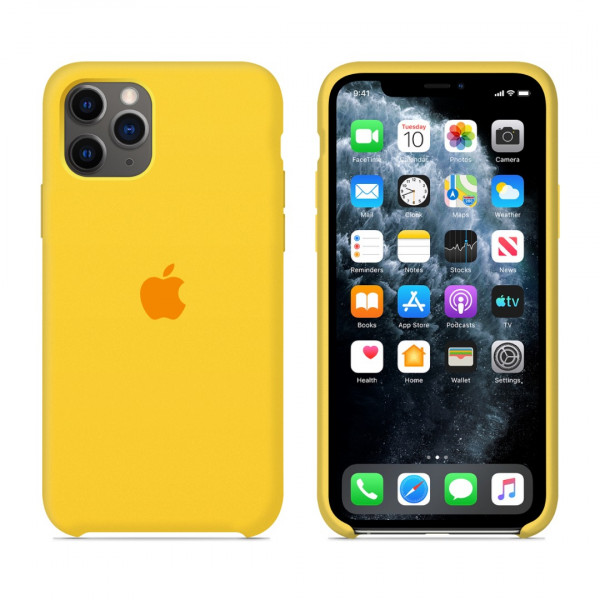 Чехол для iPhone 11 Pro Max Silicone Case (Canary Yellow) OEM