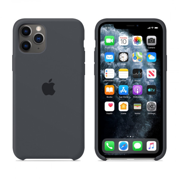 Чехол для iPhone 11 Pro Max Silicone Case (Charcoal Grey) OEM