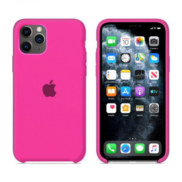Чехол для iPhone 11 Pro Max Silicone Case (Electric Pink) OEM