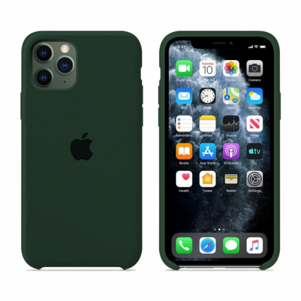 Чехол для iPhone 11 Pro Max Silicone Case (Forest Green) OEM