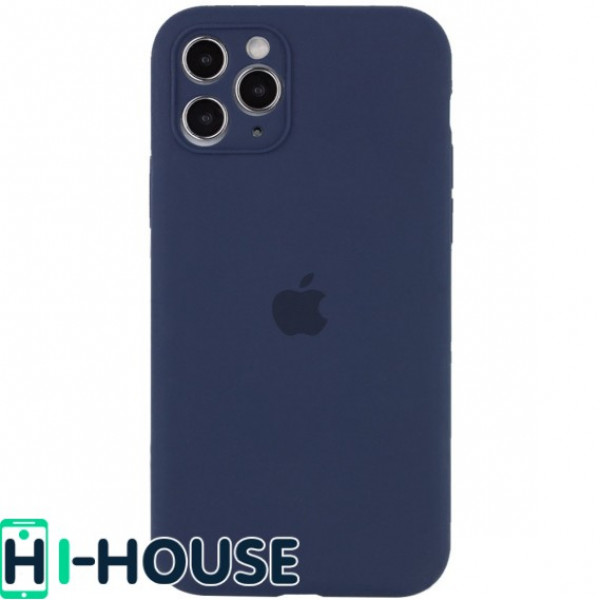 Чехол для iPhone 11 Pro Silicone Case Full Camera Protection (Midnight Blue)