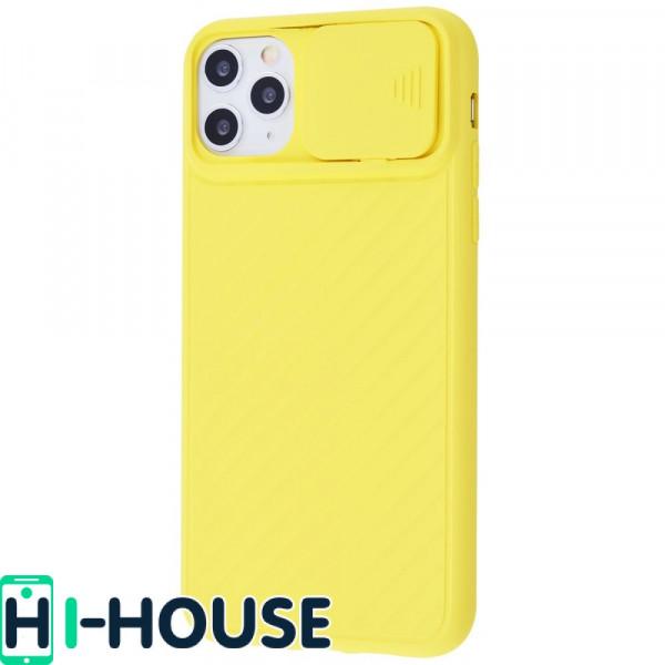 Чехол для iPhone 11 Pro CamShield (со шторкой для защиты камеры) TPU (Yellow)