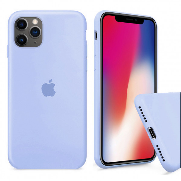 Чехол Silicone Case Full для iPhone 11 Pro (Lilac Cream)