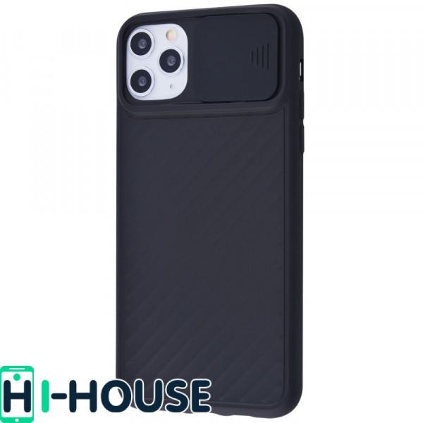 Чехол для iPhone 11 Pro CamShield (со шторкой для защиты камеры) TPU (Black)