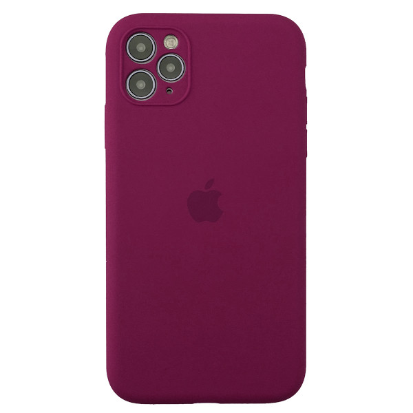 Чехол Silicone Case Full для iPhone 11 Pro (Rose Red)