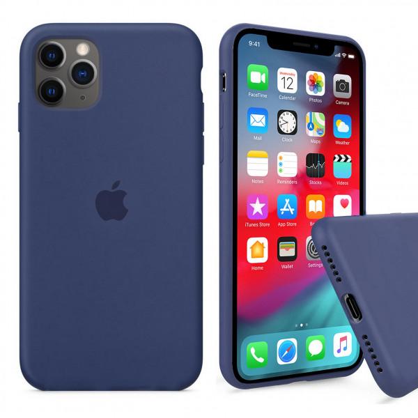 Чехол Silicone Case Full для iPhone 11 Pro (Alaskan Blue)