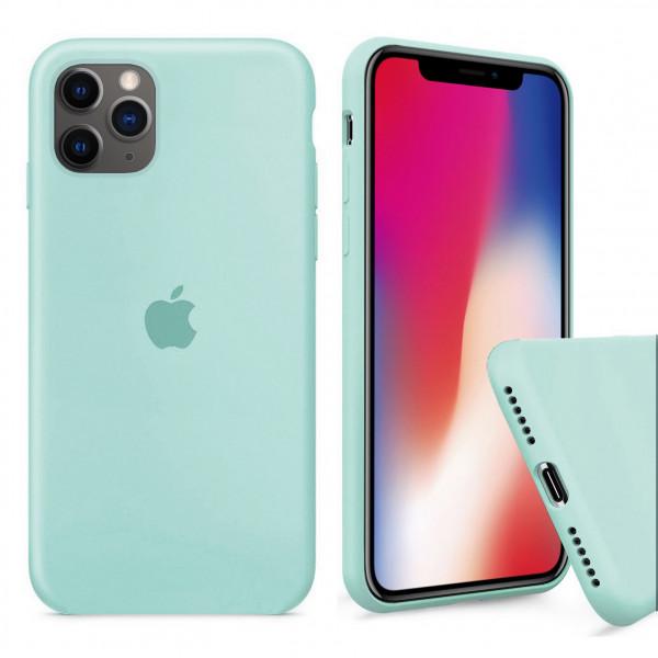 Чехол Silicone Case Full для iPhone 11 Pro (Sea Blue)