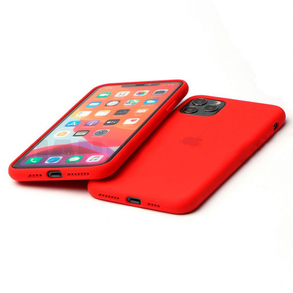 Чехол Silicone Case Full для iPhone 11 Pro (Red)