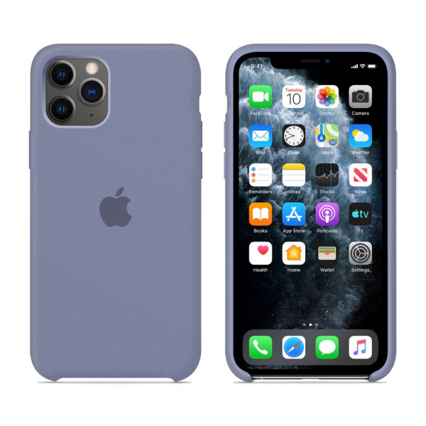 Чехол для iPhone 11 Pro Max Silicone Case (Lavender Grey) OEM