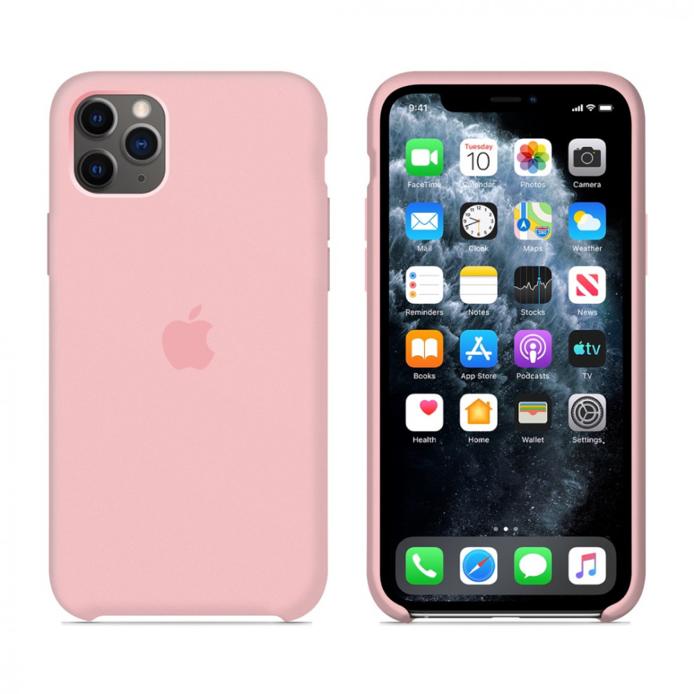 Чехол для iPhone 11 Pro Silicone Case (Light Pink) OEM