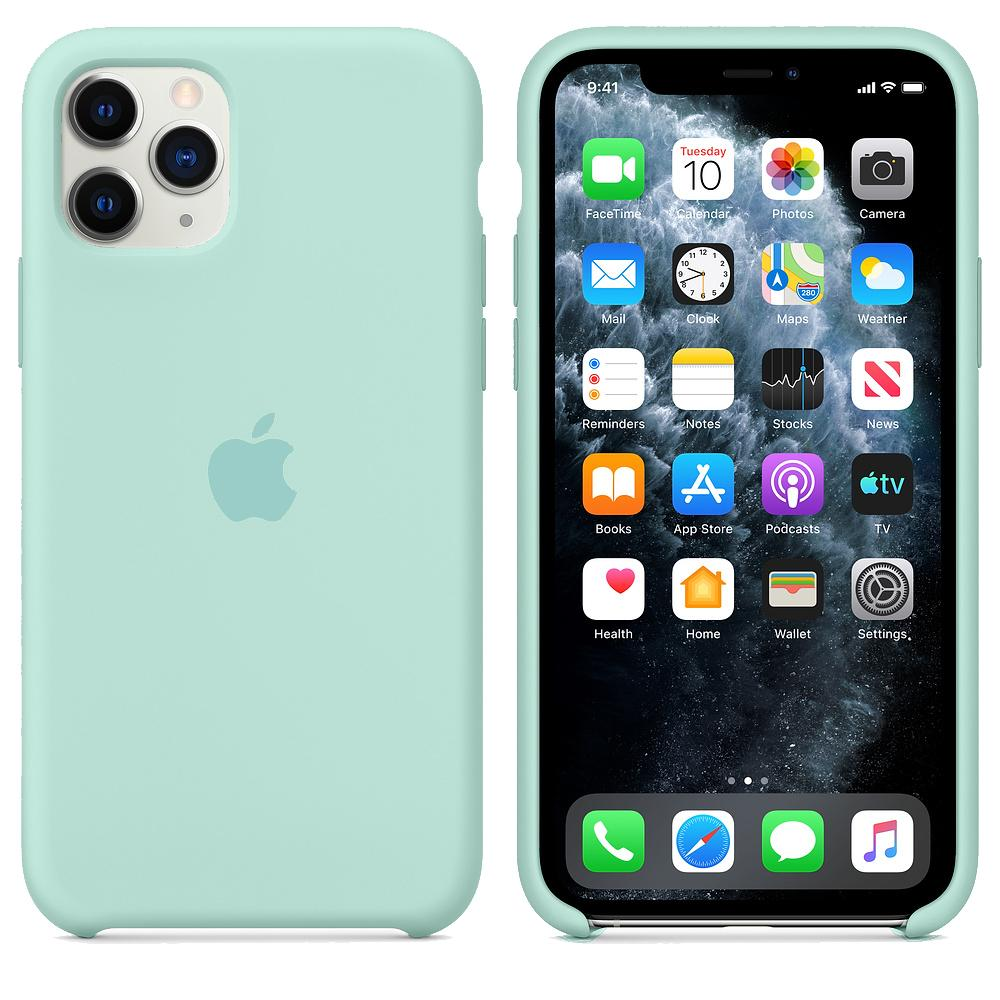 Чехол для iPhone 11 Pro Silicone Case (Marine Green) OEM