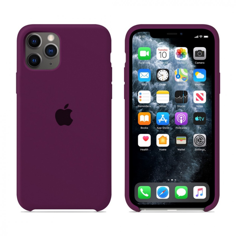 Чехол для iPhone 11 Pro Silicone Case (Marsala) OEM