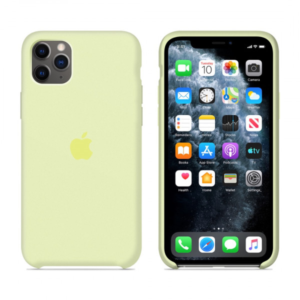 Чехол для iPhone 11 Pro Silicone Case (Mellow Yellow) OEM