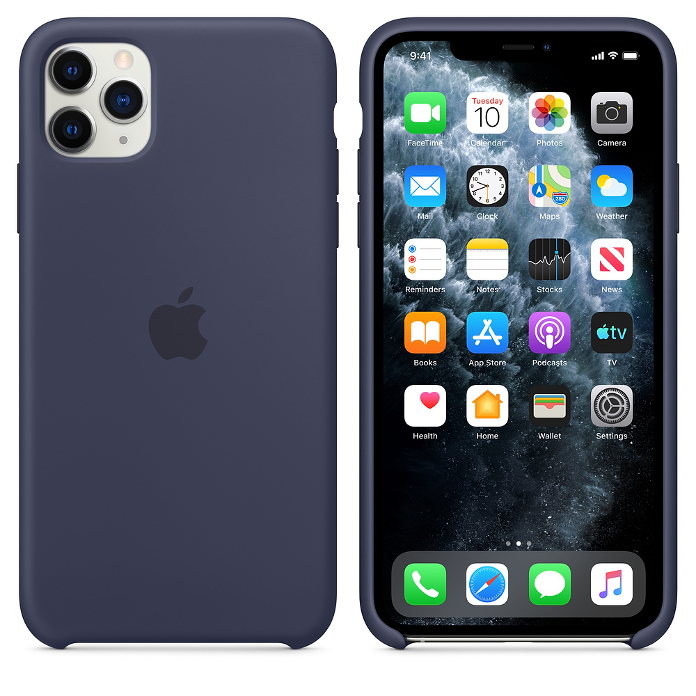 Чехол для iPhone 11 Pro Silicone Case (Midnight Blue) OEM