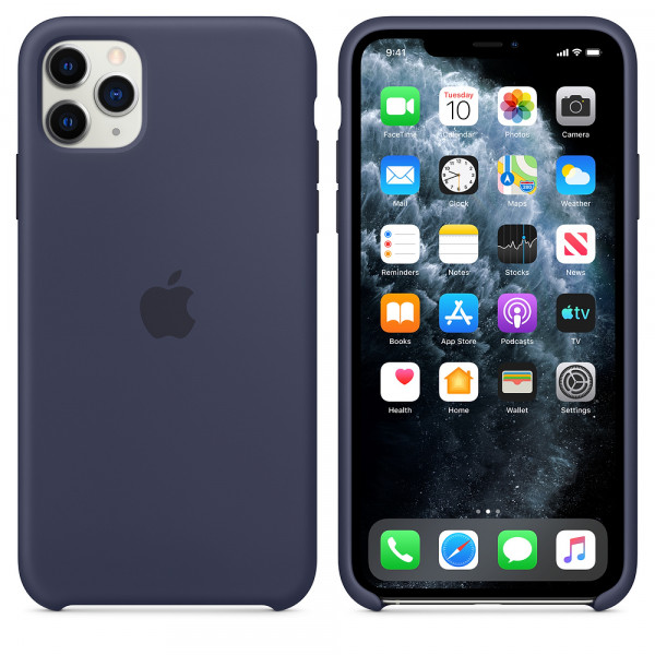 Чехол для iPhone 11 Pro Max Silicone Case (Midnight Blue) OEM