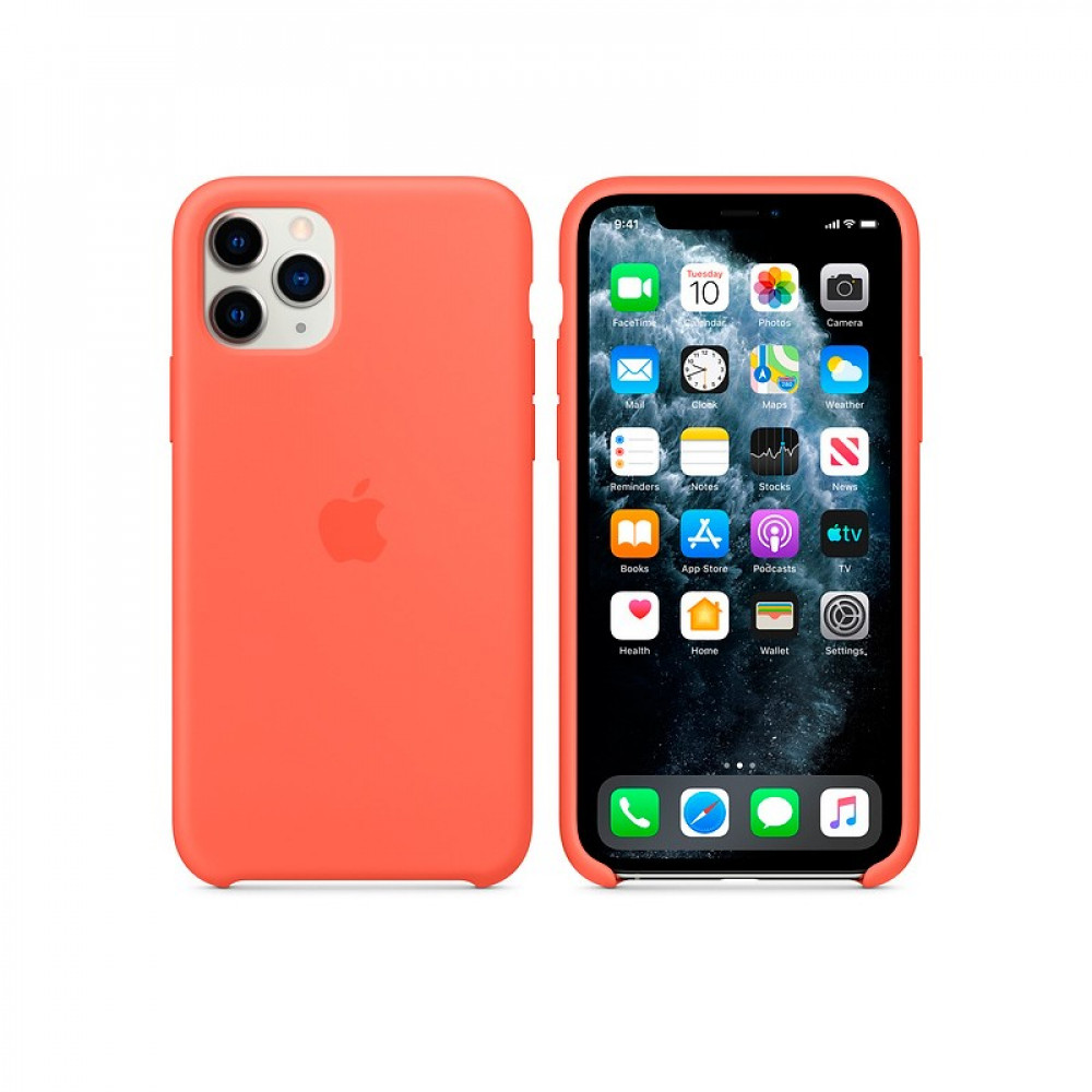 Чехол для iPhone 11 Pro Silicone Case (Orange) OEM